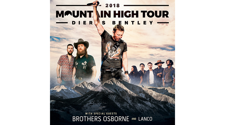Dierks Bentley S 2018 Mountain High Tour Adds Hollywood